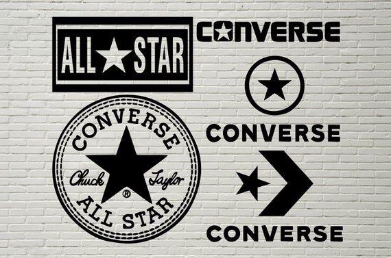 Converse Logo SVG, All Star svg bundle, Fashion Brand SVG, T
