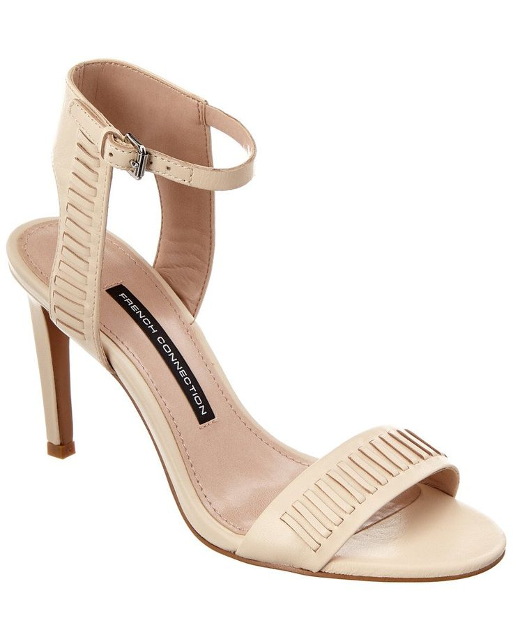 French Connection Women's Linna Dress Sandal, Barley Sugar, 38.5 EU/8 M US. Heeled sandal.