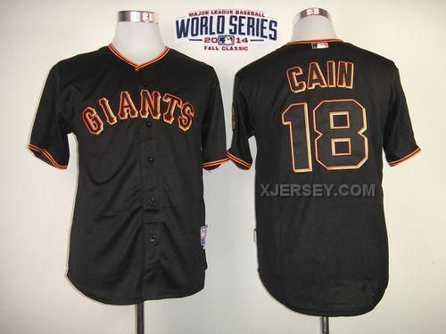 http://www.xjersey.com/giants-18-cain-black-2014-world-series-cool-base-jerseys.html GIANTS 18 CAIN BLACK 2014 WORLD SERIES COOL BASE JERSEYS Only $34.00 , Free Shipping!