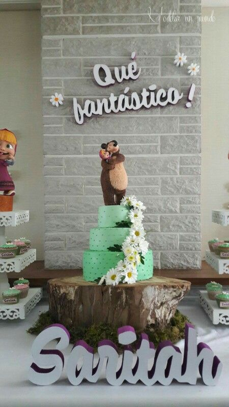 Masha y el oso Masha and the Bear cake