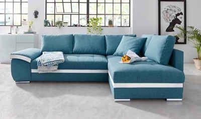 Polsterecke, wahlweise mit Bettfunktion    #couch #sofa #ecksofa #polsterecke #wohnzimmer #inspo #interior #einrichtung #polstermöbel #möbel #schlafsofa
