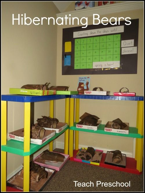 Hibernating Bears! Math everyday! I want to do the Bear Theme close to Spring and have a countdown to Spring when the Bears Wake Up! (Keep on Science table?)