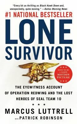 Lone Survivor by Marcus Luttrell and Patrick Robinson.    An American hero, and may God bless all those who wear the uniform of the U.S. Military.