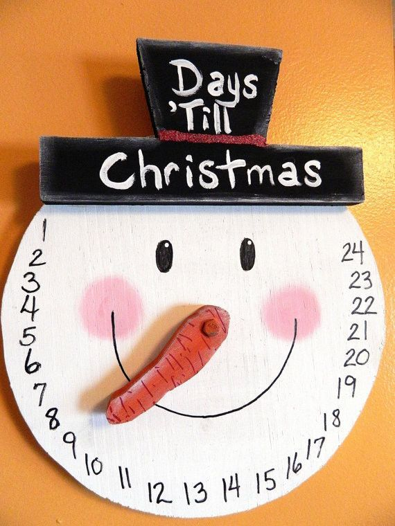 Snowman COUNTDOWN to Christmas Wall Hanging ADVENT Calendar by gr8byz