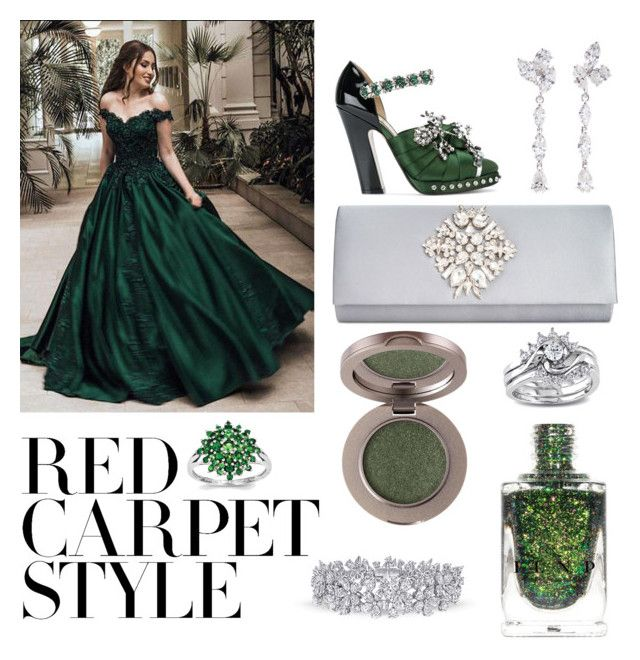 """""""green red carped look🍀🌵"""" by a-like-4-milan ❤ liked on Polyvore featuring N°21, INC International Concepts, Anyallerie, Miadora, redcarpetstyle and OscarsThrowback"""