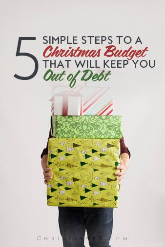 Want to have a debt-free Christmas this year?  If so, then you need to start planning now and you can start with these 5 steps to create a Christmas budget!