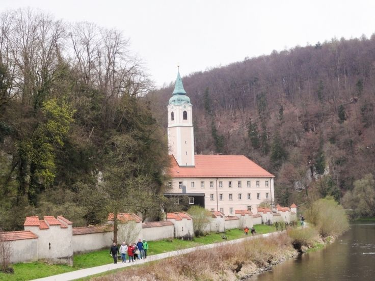 Weltenburg Abbey on bend of the Danube