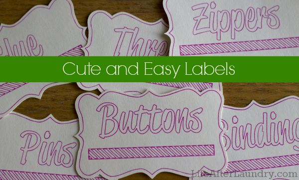 Cute and Easy Labels for Organization.     LifeAfterLaundry.com  #Craft #Organizing #DIY #Labels #Silhouette