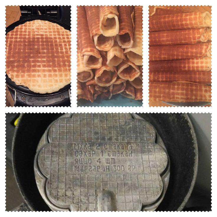 Советская вафельница. Soviet waffle iron.