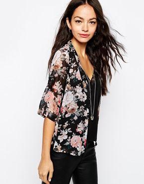New+Look+Vintage+Floral+Print+Chiffon+Kimono