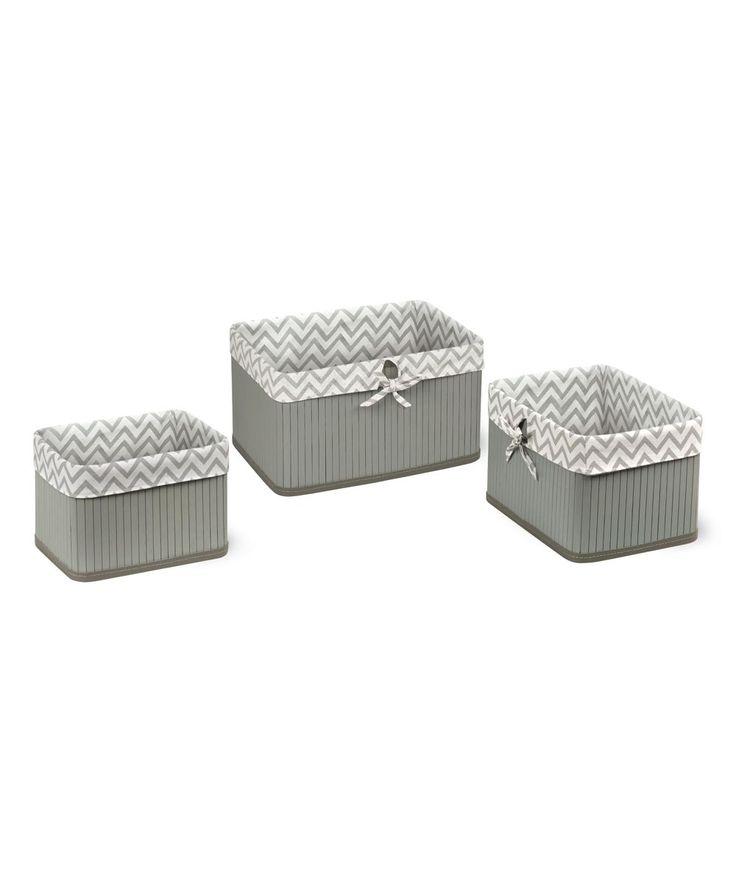 Badger Basket Claremont Storage Baskets   Set Of 3   95611