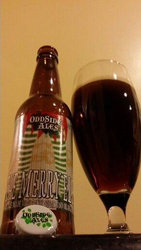 Oddside Ales' Merry Elf. Like most brews from this brewery, it is interesting. It also makes for a great after dinner, sipping beer to enjoy with chocolate.