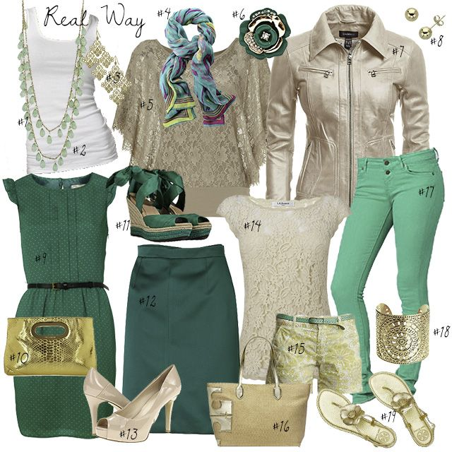 116 best green motives images on pinterest work outfits for Shirt and pants color combinations