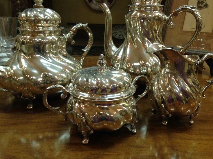 Handarbeit Ferner 4pc Sterling Silver Coffee Tea Service ...