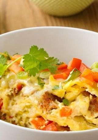 Toss tortillas, eggs, veggies and chorizo or sausage in the slow cooker, and you'll have a savory Mexican-style egg bake waiting for you in just a few hours. A perfect breakfast-for-dinner or late-brunch option. Top with your fave fixins, like salsa, avocado or sour cream.