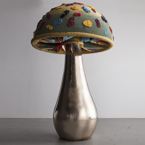 """The Haas Brothers, USA, 2016 """"Cream of Some Fungi"""" mushroom sculpture from the Afreaks series Designed and made by The Haas Brothers and The Haas Sisters, South Africa."""