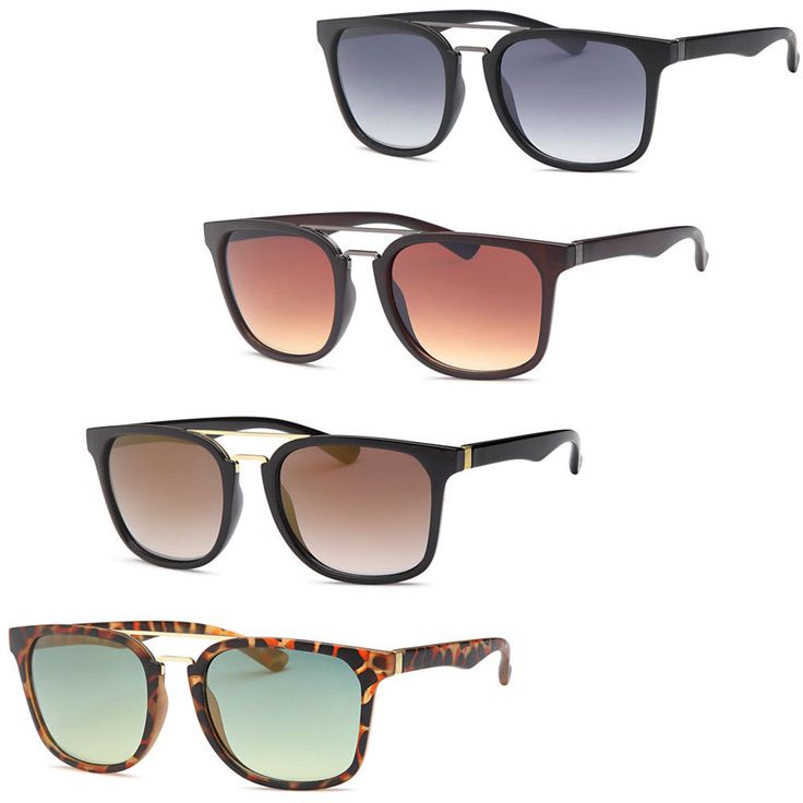 Modern Square Fashion Unisex Sunglasses-Pack of 4 #Unbranded