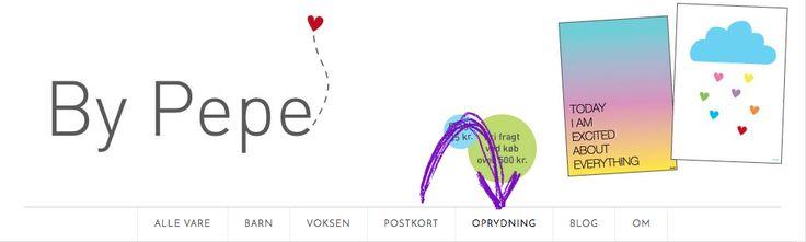 Oprydning hos By Pepe, spar penge på masser af fin design - www.byepe.dk