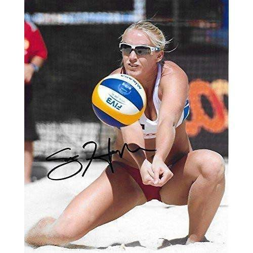 Sara Hughes, USA Olympic, Volleyball Player, USC Trojans, Signed, Autographed, 8x10 Photo, a COA with the Proof Photo of Sara Signing Will Be Included.