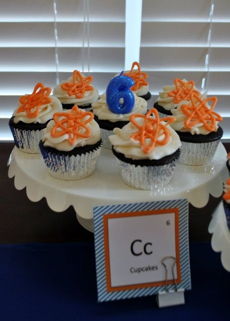 Check out these cupcakes from a Science Lab Birthday Party! See more party ideas at CatchMyParty.com!