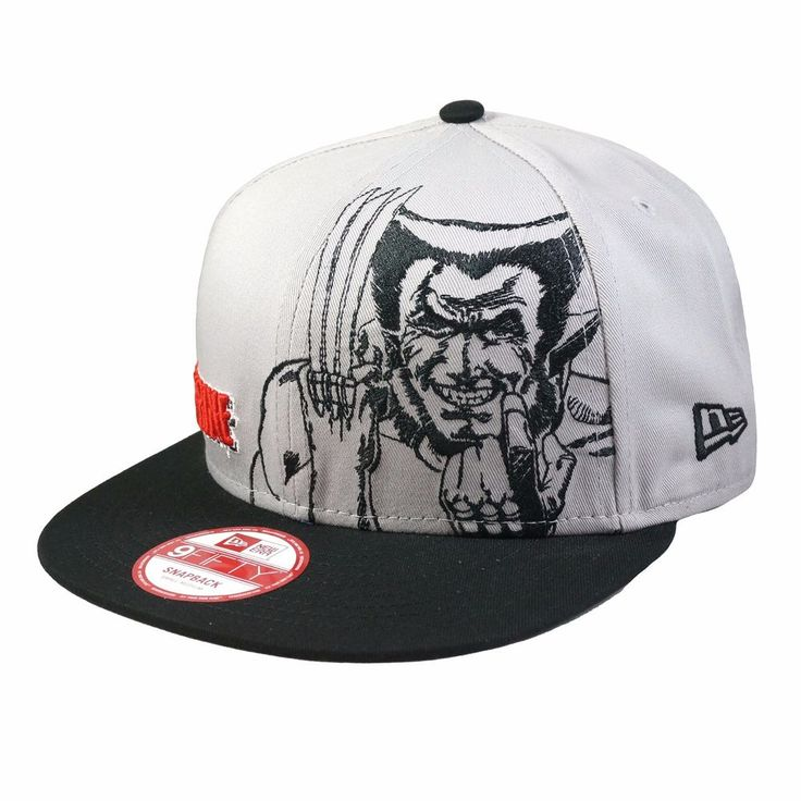 NEWERA 9FIFTY Snapback Cap PANEL FACE WOLVERINE Superhero Hat  #NewEra #SnapBackCap