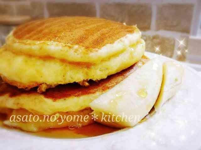 お豆腐マジック!分厚いホットケーキ♡の画像