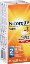 Shop online for Nicorette 2mg Coated Gum Fruit Chill at CVS.COM. Find Nicotine Gum and other Stop Smoking products at CVS.