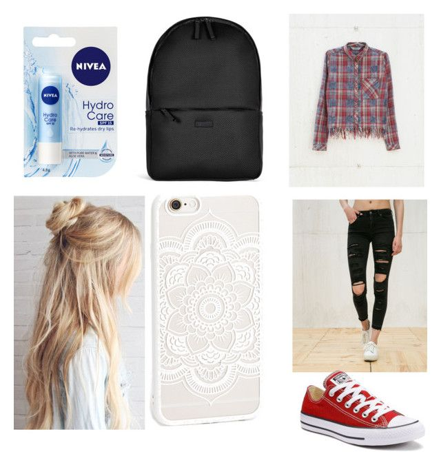 """School"" by adine233 on Polyvore featuring Bershka, Converse, Rains and Nivea"