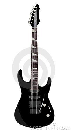 Illustration of black electric guitar