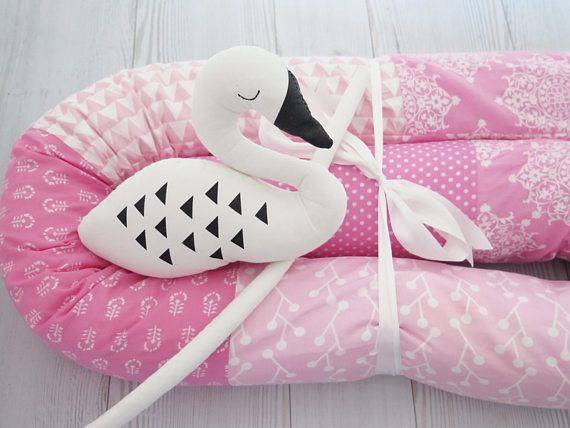 Baby Bumper  Crib Bumpers  Pink Baby bedding  Snake Pillow