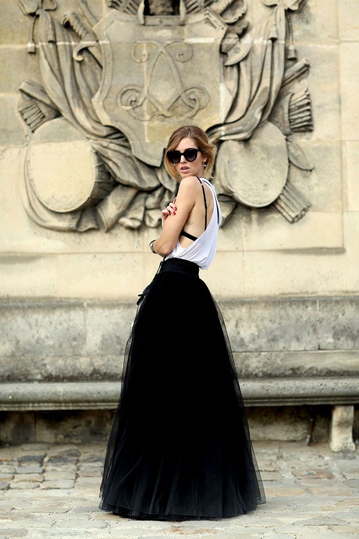 tank top with tulle skirt