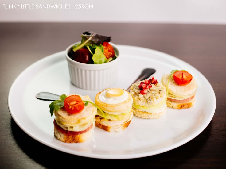 Funky Little Sandwiches and a cute little salad too