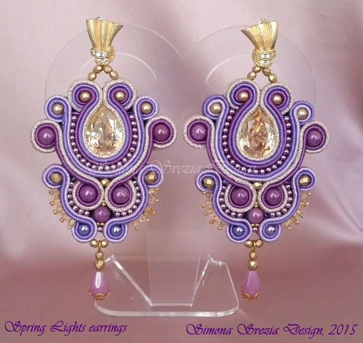 "Perline e Bijoux: ""Spring Lights"" nuovi orecchini in soutache"