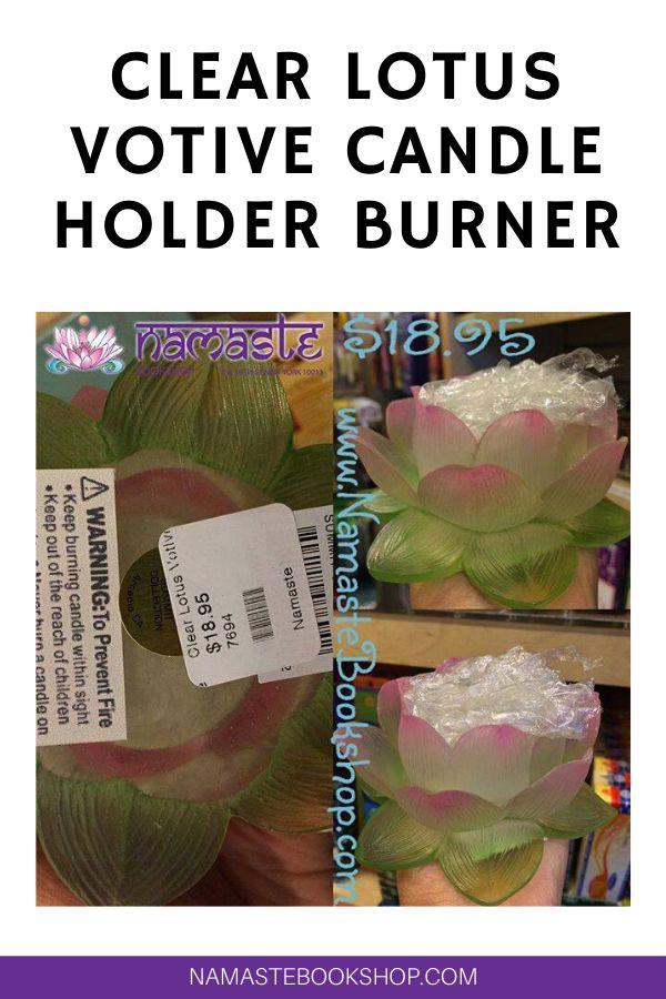 Clear Lotus Votive Candle Holder Burner