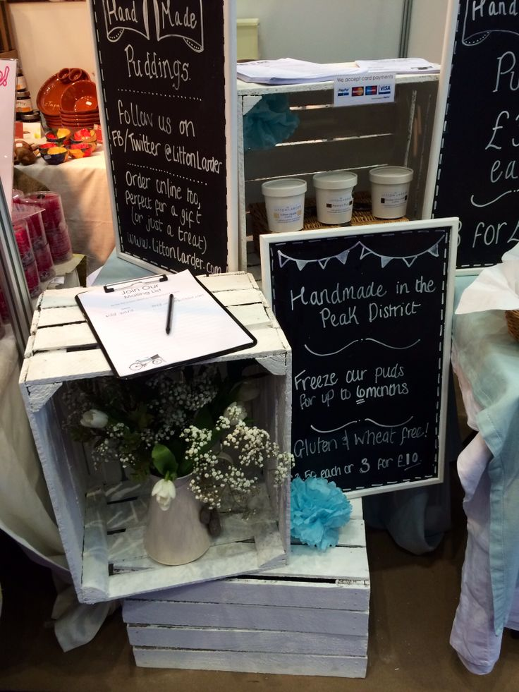 Getting handmade & creative with our stand styling. Crates, chalk paint, Pom poms & flowers