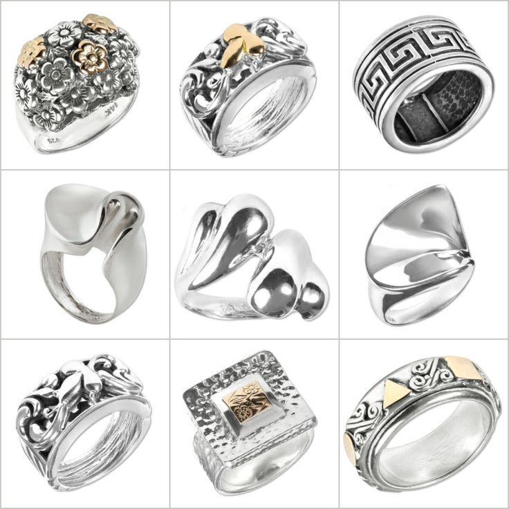 Кольца Zanfeld, серебро, золото.  Zanfeld rings, silver, gold.