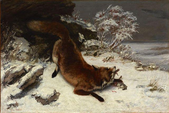 Αλεπού στο χιόνι (1860)