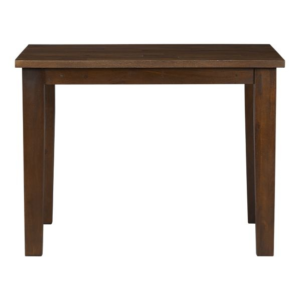 """Continuing on the theme of small living, we have the Basque Honey 40"""" table. I really like the deep brown colour on this."""