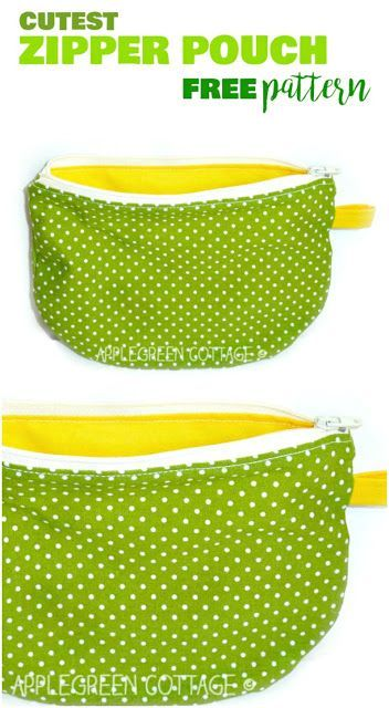 This zippered pouch tutorial will make a wonderful beginner #sewing project, especially if you are new to sewing zippers. It's easy and quick to make! // Apple Green Cottage