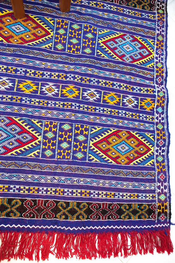 Blue Eye Catcher This Berber Moroccan Rug Truly Catches The With Its