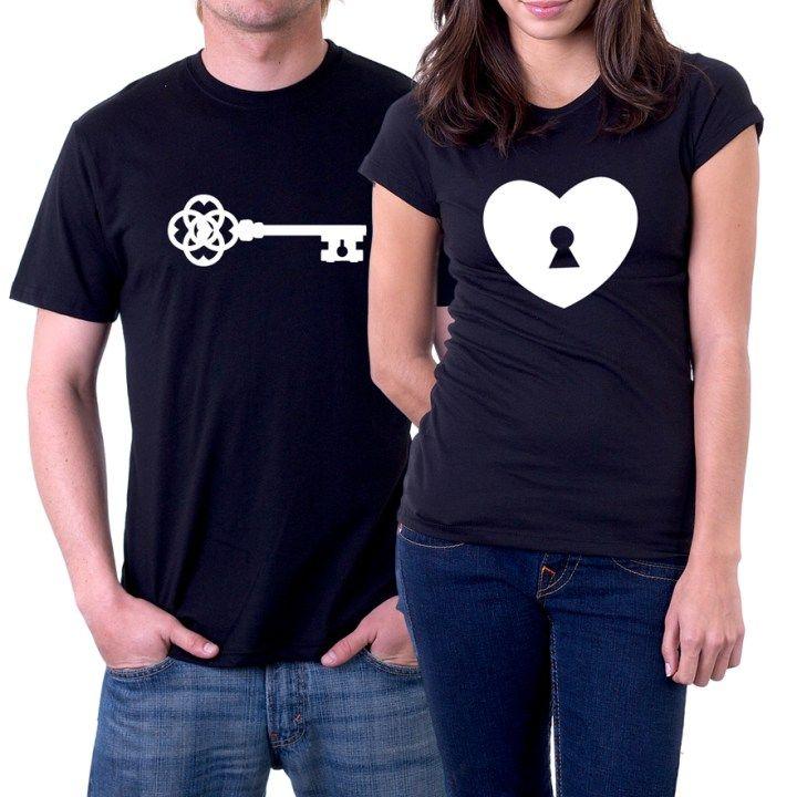 33ad2128ea5e Llave y Candado Camisetas Criativas, Estampas Criativas, Camisa Namorados,  Camisetas Casal, Roupas