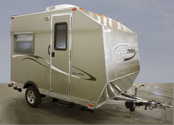 Towmini 1350 lbs dry wt small travel trailers for 2 bathroom travel trailer