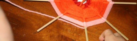 Lavoretti per bambini – Telaio per tessitura circolare