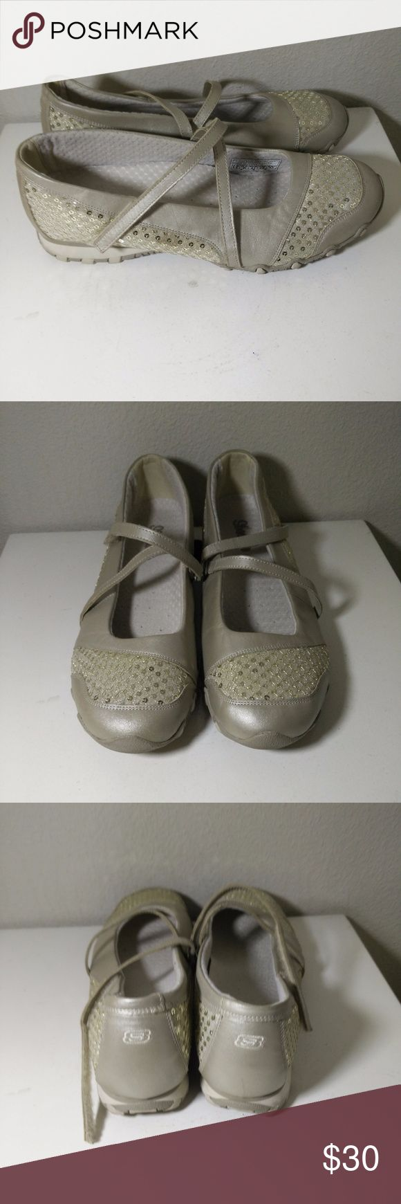 Gold Leather Skechers Mary Jane Comfort Flats Women's Gold Leather Skechers Mary Jane Comfort Flats Size 11 - Very cute - a rare find at this size and in awesome condition as well! (ref#1979) Skechers Shoes Flats & Loafers