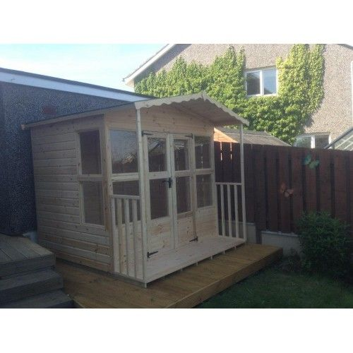 8x6 WSG STYLE 2 SUMMER HOUSE WITH VERANDER