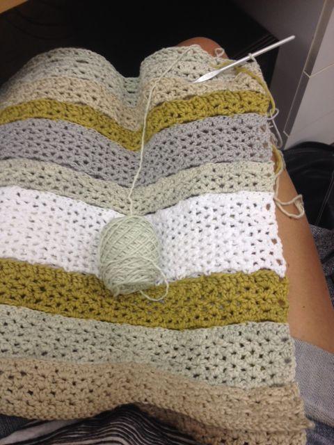 Crochet baby blanket progress