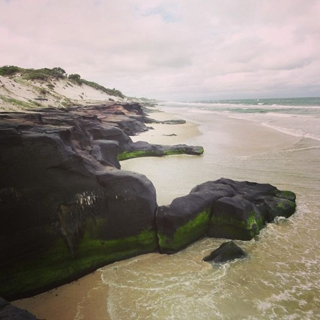 Some black rocks near the black rock camping ground in northern NSW. Uncanny that the area is named Black Rock!