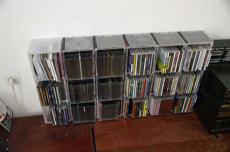 I was doing little sliming process  with my CD collection and so lot of CD boxes has left unused. There wasn't place in bin for tham so I use tham to store another CDs.