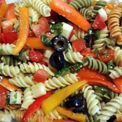 Colourful Capsicum Pasta Salad