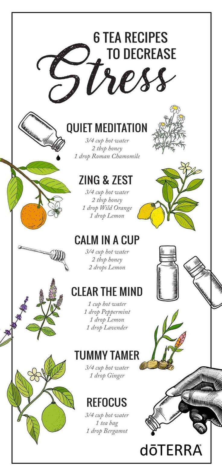 Need a stress-free moment? Try one of these 6 tea recipes! They are delicious and relaxing.